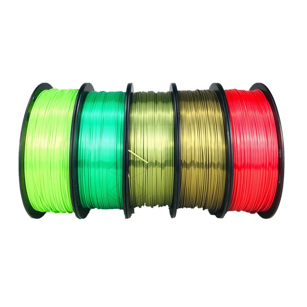 Silk Color 3D Printing Filament 1.75mm 1KG PLA 3D Printer