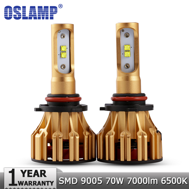 цена на Oslamp 9005 HB3 LED Headlight Bulbs Car Light Bulb 70W 7000LM 6500K SMD Auto Led Headlamp Headlights Led Lights Lamp 12v 24v