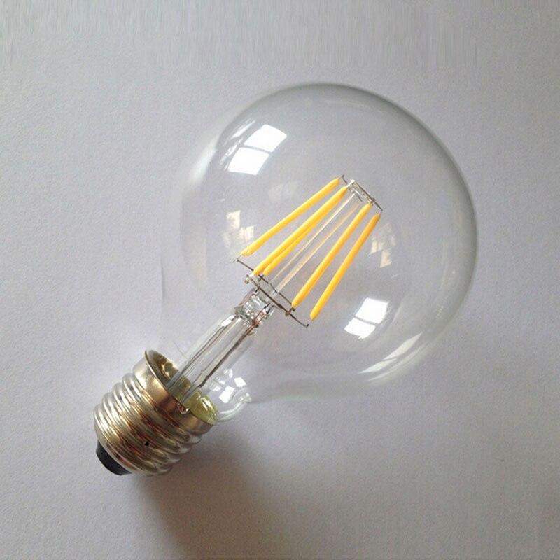 Mabor E27 G80 6W LED Bulb Edison Vintage COB Light Dimmable White/Warmwhite Lampada Bombillas Lamparas Ampoule 5pcs e27 led bulb 2w 4w 6w vintage cold white warm white edison lamp g45 led filament decorative bulb ac 220v 240v