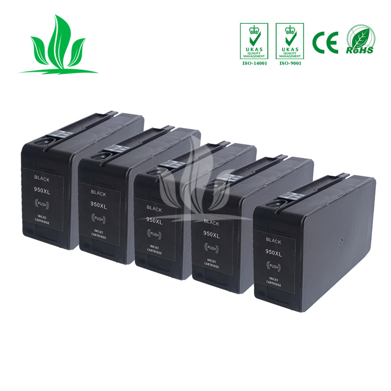 5 X Compatible 950 951 XL Ink Cartridge Replacement for HP 950 951 HP950 HP951 Officejet Pro 8100 ePrinter 8600 Plus Printer 3