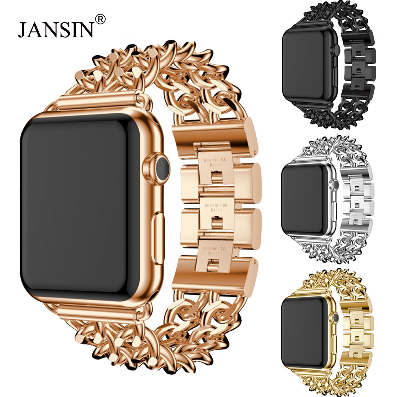 JANSIN Link Bracelet Band For Apple Watch 38mm 42mm 40mm 44mm Stainless Steel strap wristband Metal Band for iWatch Series 4 3 2JANSIN Link Bracelet Band For Apple Watch 38mm 42mm 40mm 44mm Stainless Steel strap wristband Metal Band for iWatch Series 4 3 2