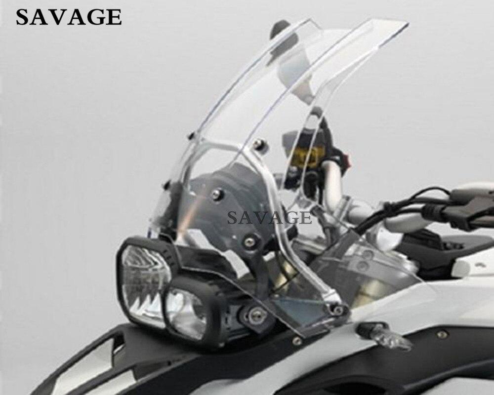 Бесплатная Доставка мотоциклов лобовое стекло с Рамки комплект для BMW F800/F650 Double Bubble Pc Ясно Цвет