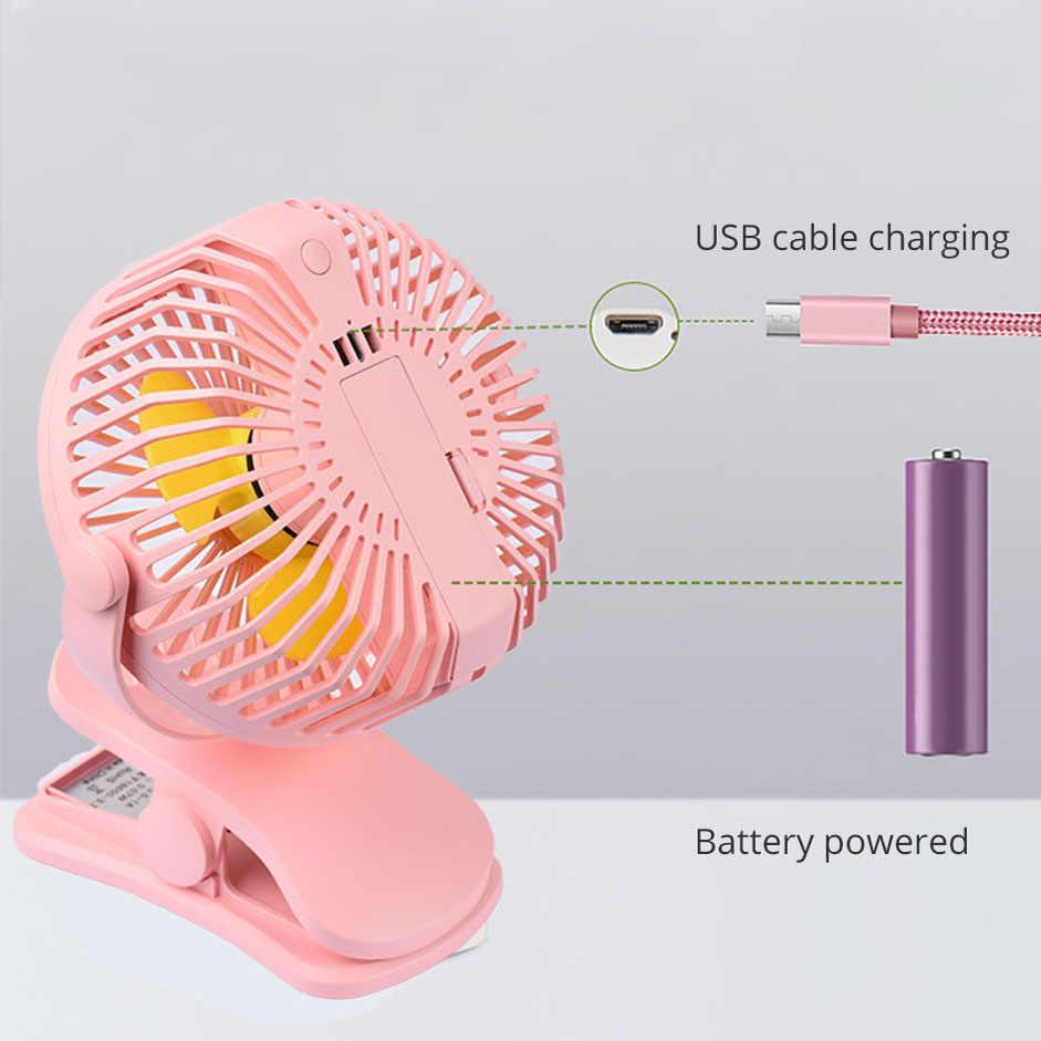 Quạt USB Mini Dùng Cho Văn Phòng Nhà Di Động Máy Tính MÁY TÍNH Quạt Điện Laptop Quạt 2 Mặt Cánh Quạt pin/ USB đèn ngủ