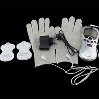 Electric Body Hand Pulse Massage Glove Massager Tens Acupuncture Therapy Massageador Electronic Massager Fiber Electrode Gloves