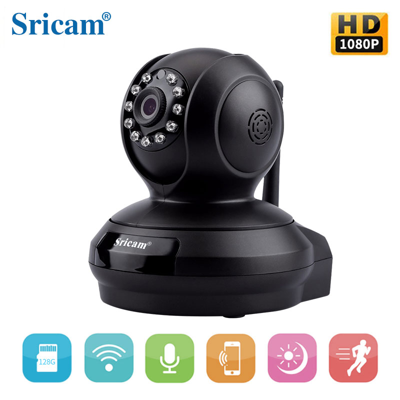 HD 1080P Pan&Tilt Wireless WIFI IP Camera Support 128G TF Card hd 1080p pan
