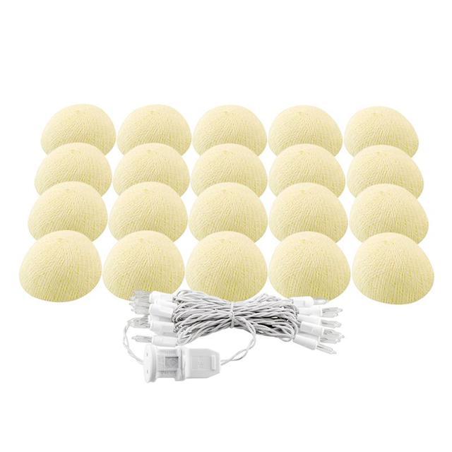 Bola de algodón Luces Con Enchufe de LA UE Para La Boda de la Secuencia de Jardín Luces LED de Vacaciones Decoración De Navidad