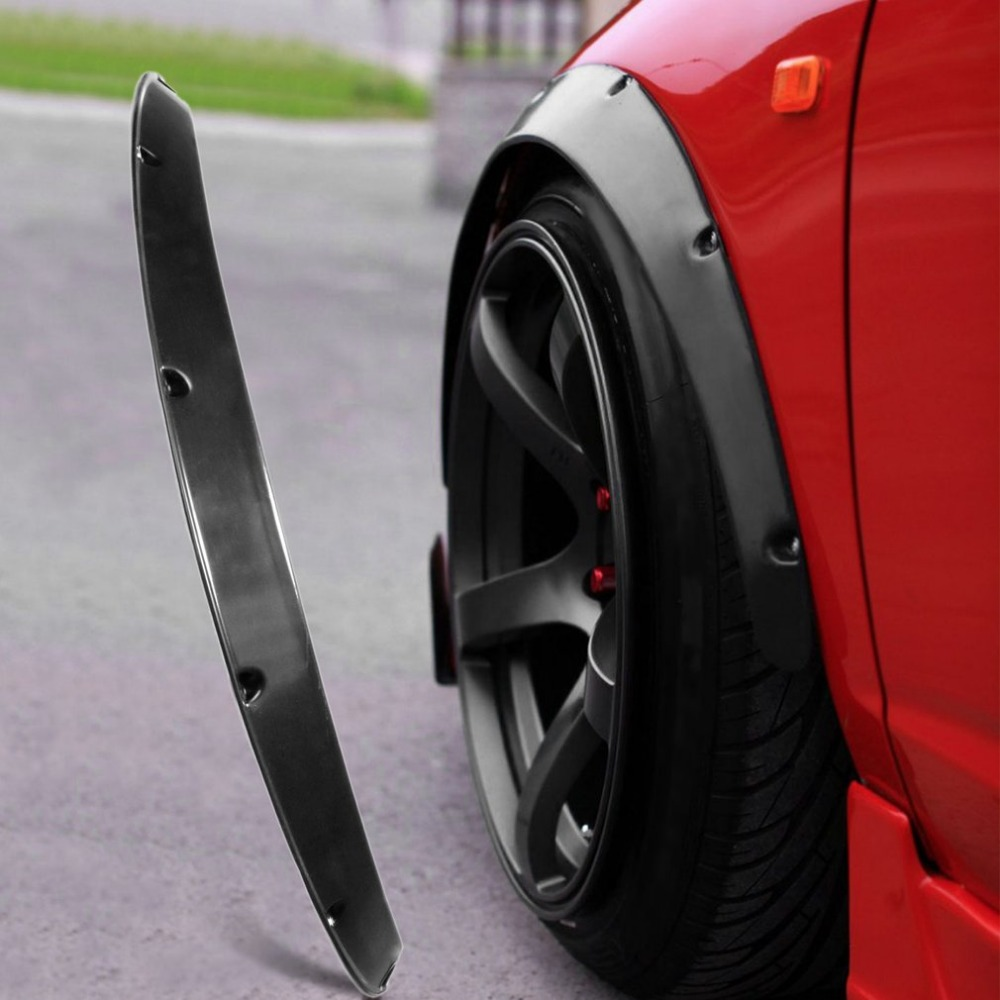 4pcs /Sets JDM Fender Flares Wheel Arch 2 inch (50mm) Decorative Left Right Front Rear Set ABS Plastic Car fittings ...