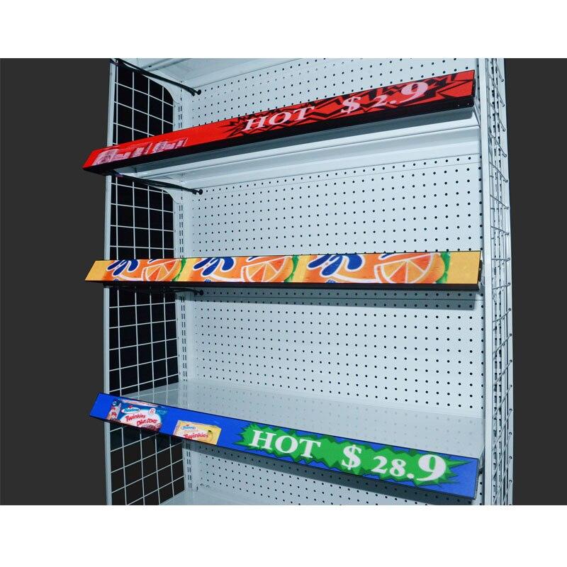 P1.25 Cob Led Shelf Screen Supermarket Advertising Shelf Led Display