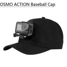 Comfortable Cloth Outdoor Sun Hat Baseball Cap Buckle Mount with Base for DJI Osmo Action Sports Camera Sunshade Accessories