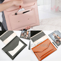 Eagwell Universal PU Leather Laptop Sleeve Case Bag Pouch For 11 13 Laptop Fashion Notebook Carry