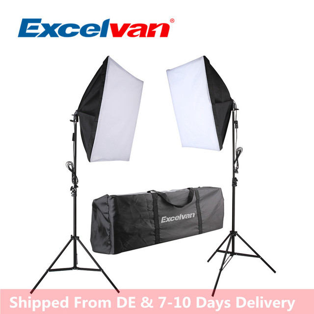 new excelvan 700w photography continuous softbox light lighting kit
