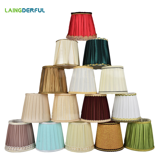Modern Simple Cloth Lamp Shade Nordic Style Wall Lamp Table Lamp Shade Lampshade for E14 Bulb Base Home Decoraion