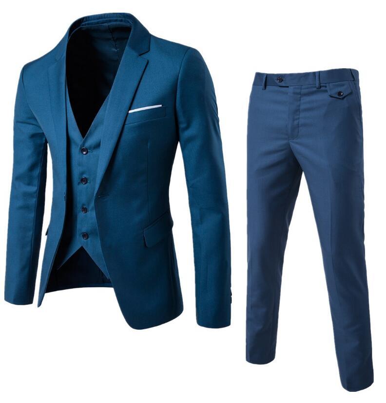 (Veste + pantalon + gilet) de luxe hommes Costume de mariage hommes Blazers Slim Fit costumes hommes Costume affaires formel fête classique grande taille 5XL