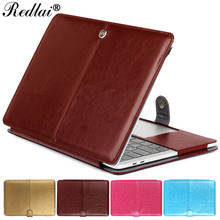 Redlai Laptop Case For Macbook Air Pro Retina 11 12 13 15 PU Leather Sleeve For Mac book New 2017 Pro 13 15 with Touch bar A1706