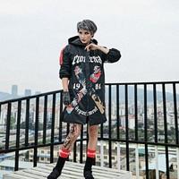 Women's Winter Jacke Zipper Hoodies Thick X Casual Streetwear Hoodies Black Winter Coat for women Loose Harajuku Hip Hop Jackets