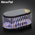 NEWPAL Bluetooth Speakers Portable LED Loudspeaker Support FM Radio/AUX/TF Card With Flashing LED Mini Portable Speaker