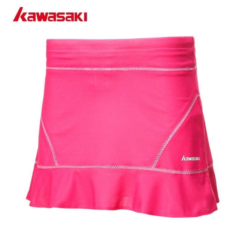 Brand KAWASAKI Women Summer Solid Sports Skort With Safety Shorts Elastic Plated Running Fitness Gym Tennis Skirt SK-172703