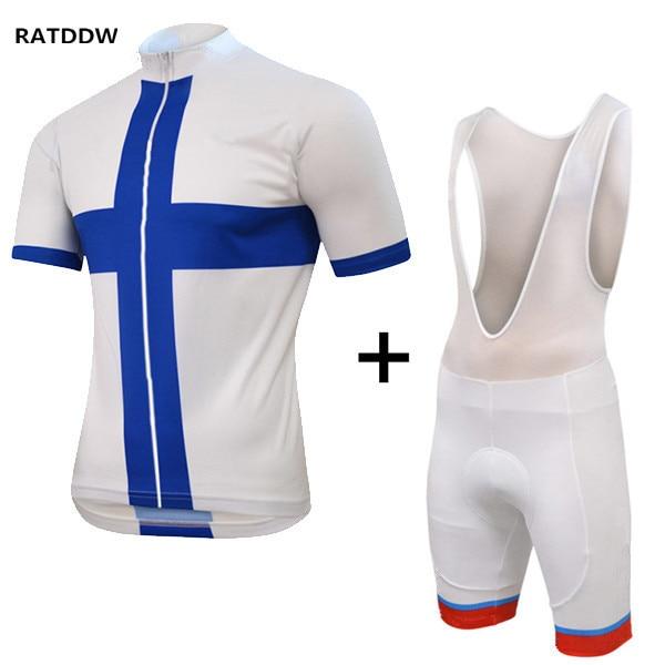 Finlandia hombres ciclismo clothing clothing camisetas de manga corta de la bici ropa de ciclo de la bicicleta ciclismo ropa para el verano