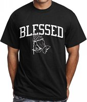 Cool Slim Fit Letter Printed Men S Blessed T Shirt Urban Wear Hip Hop Gear Tee