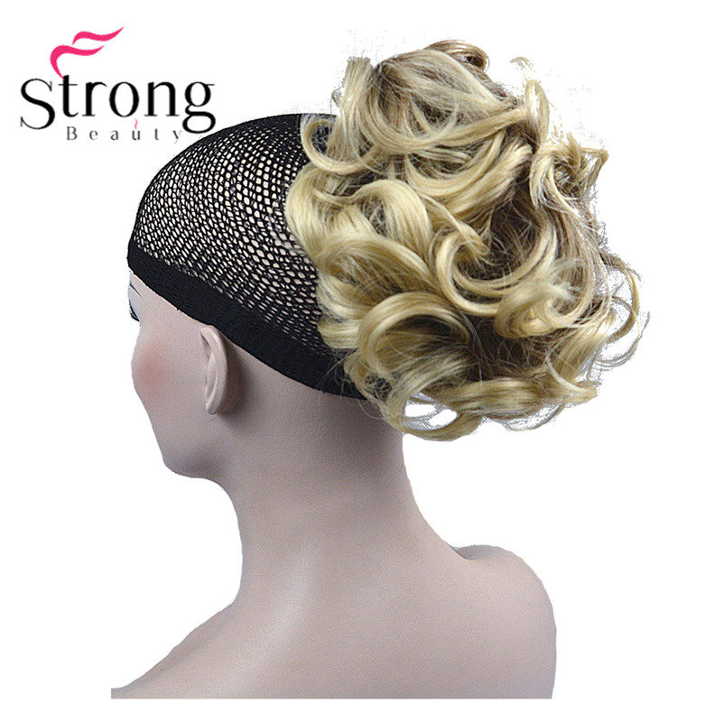 StrongBeauty Short Ponytail Hair Piece Extension Synthetic Hair Wavy Claw Clip In/on Hairpiece COLOUR CHOICES