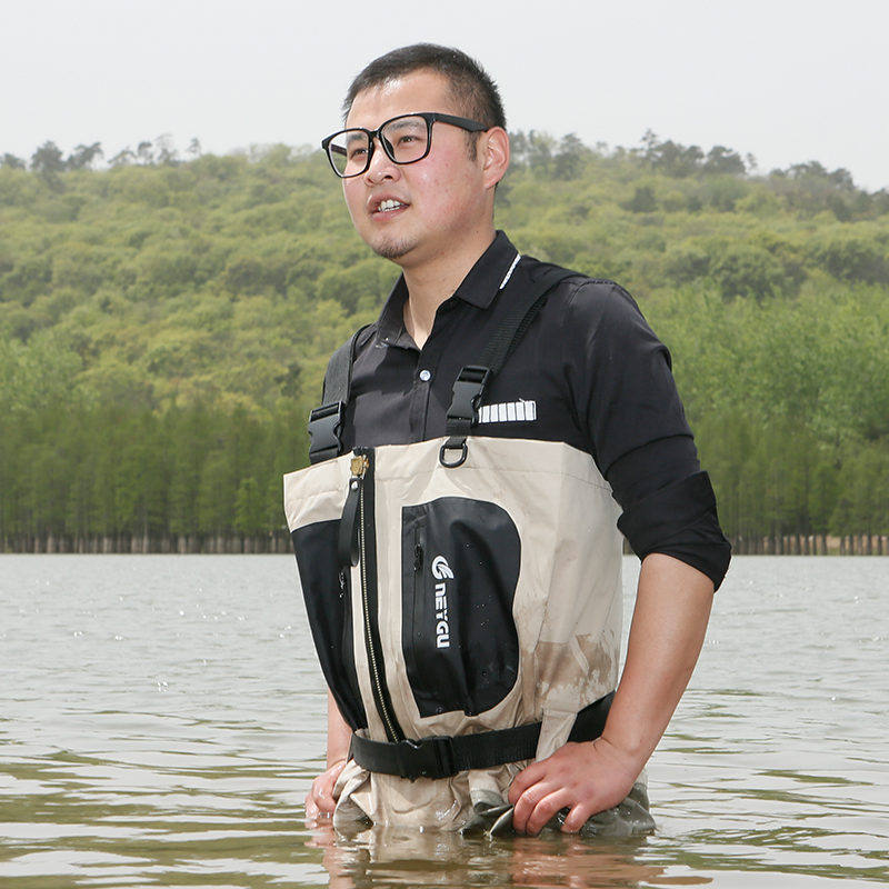 Stocking foot chest waders for men, breathable chest pesca wader, high quality fishing waders breathable fishing waders for men stocking foot chest waders pesca waders