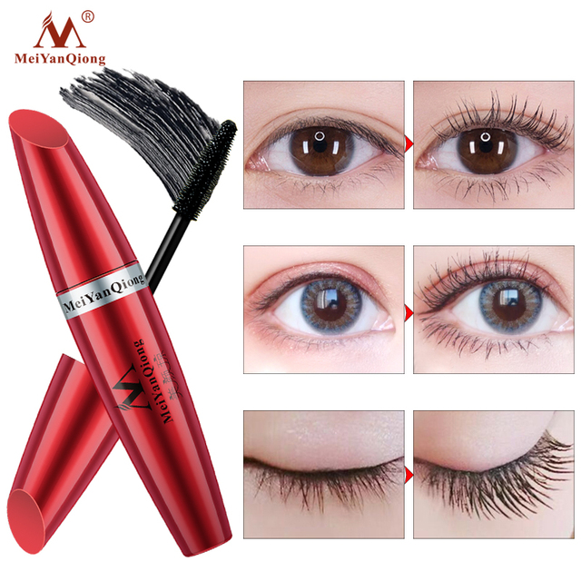 Makeup Eye Mascara Lengthening Nutritious Moisturizing Easy to Dry Natural Curling Thick Waterproof Sweat-proof Eyelash Care 2