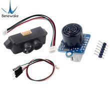 Módulo do sensor do localizador da escala de tfmini s lidar 0.1 12m tof do único ponto micro variando uart & iic + GY US42 módulo ultrassônico da escala