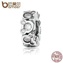 Bamoer auténtica plata de ley 925 populares miky disni todo pas326 spacer cupieron diy pulseras joyería de las mujeres