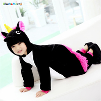 New Year S Costumes For Boys Winter Warm Children Unicorn Pajama Cute Cosplay Flannel Christmas Costume