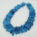 En bruto Azul Oscuro de Cristales de Cuentas de Palo, Roca Áspera Graduado Beads Briolettes Cuarzo Pilar de Spike Colgante de Joyería