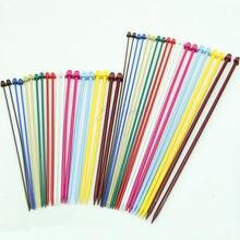 2 größe Set 20 Stücke 2,0-6,5mm Multicolor Kunststoff Stricknadeln Häkelneinzelnadelspiel