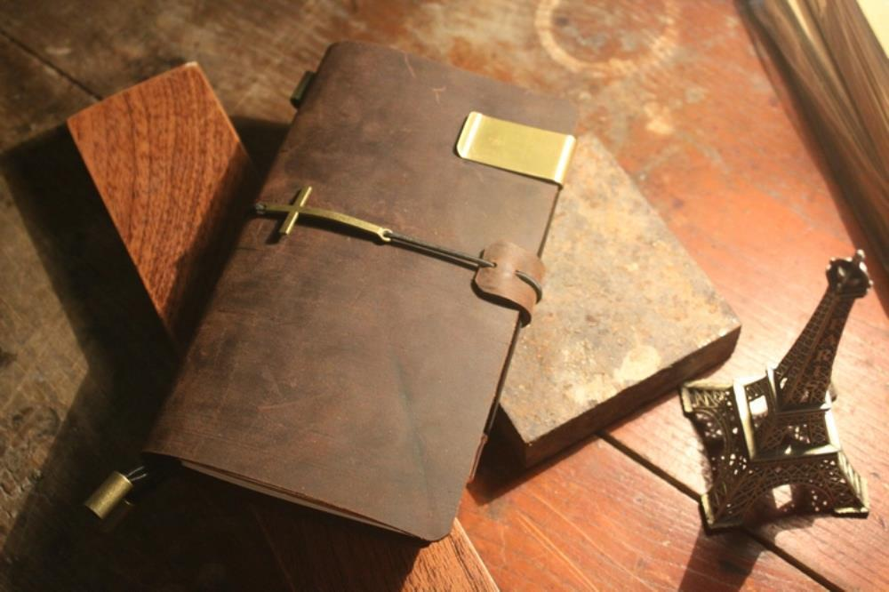 Handmade Vintage Traveler's Notebook Diary Journal Blank Leather Cover Diary genuine leather  travel D0407 sosw fashion anime theme death note cosplay notebook new school large writing journal 20 5cm 14 5cm