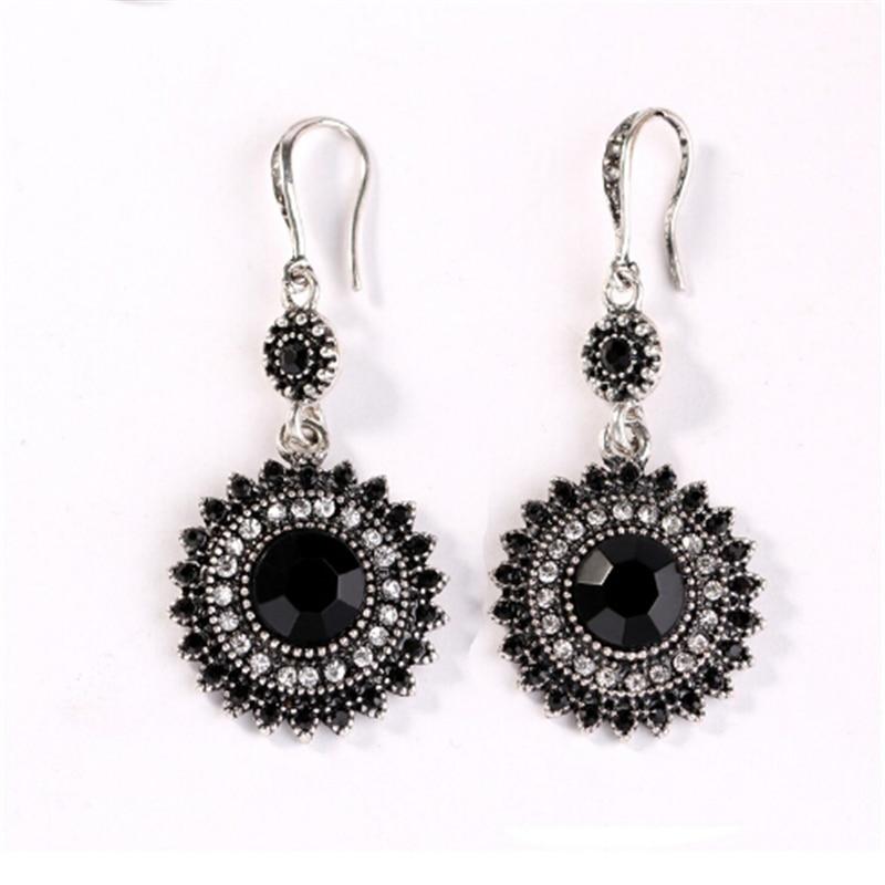 2019 nouvelles femmes mode bohême Style ethnique tibétain argent multicolore émail perles déclaration grande goutte boucles d'oreilles bijoux en gros