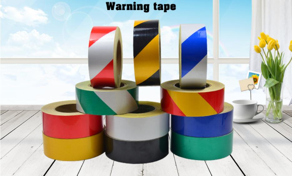 45meters Width 15cm Low reflective traffic warning adhesive tape, safety equipment warning tape with glue,