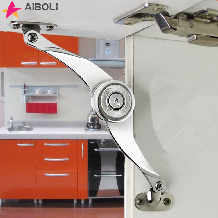 Hydraulic Randomly Stop Hinges Kitchen Cabinet Door Adjustable Polish Hinge Furniture Lift Up Flap Stay Support Hardware