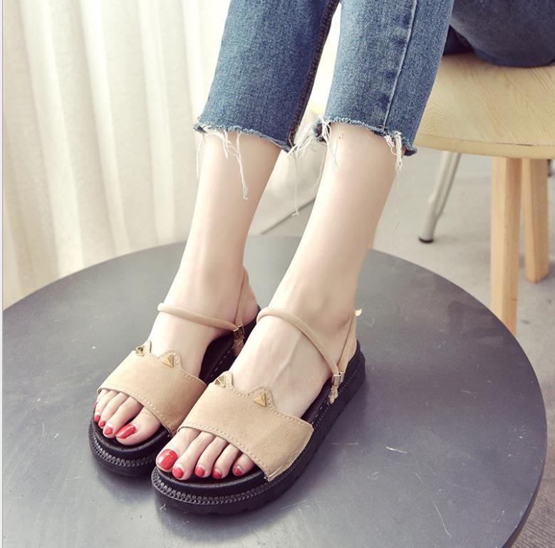 ... new wild sandals student 2018 cat Korean ears casual women s summer  sandals F68qxvw5Z ... e59d3f6b315c