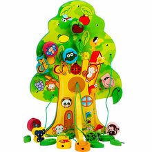 Exempt postage So happy wisdom tree fruit wooden beads toys with