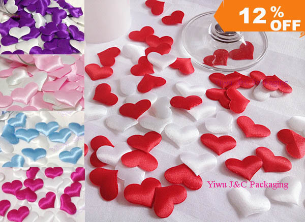 Free shipping 1000pcs wedding table decoration heart diy for Heart decoration ideas