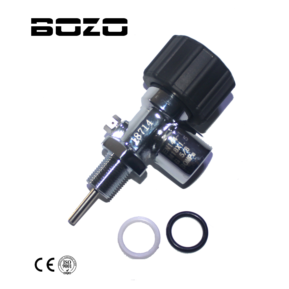 PCP Paintball Diving Din Valve Tank ON/OFF Valves Male G5/8 Female 30Mpa/4500psi For M18*1.5 High Pressure Cylinders/CF Tank