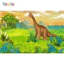 Yeele Cartoon Photography Backdrop Dinosaur Jungle Baby Kids Birthday Party Custom Photographic Background For Photo Studio