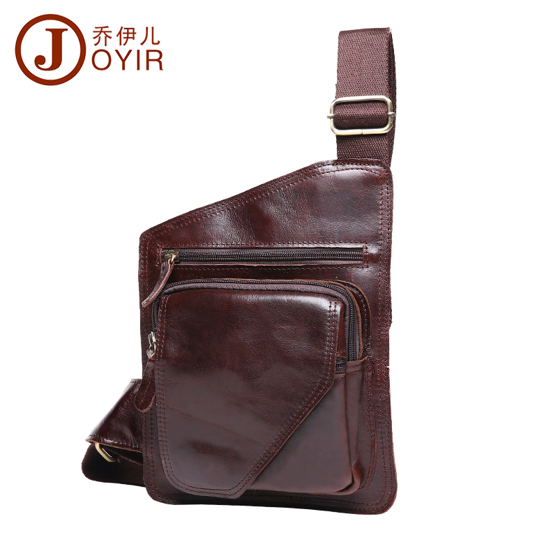 JOYIR 2018 Vintage Casual Genuine Leather Men Chest Bag Cowhide Messenger Crossbody Bags Single Shoulder For Male