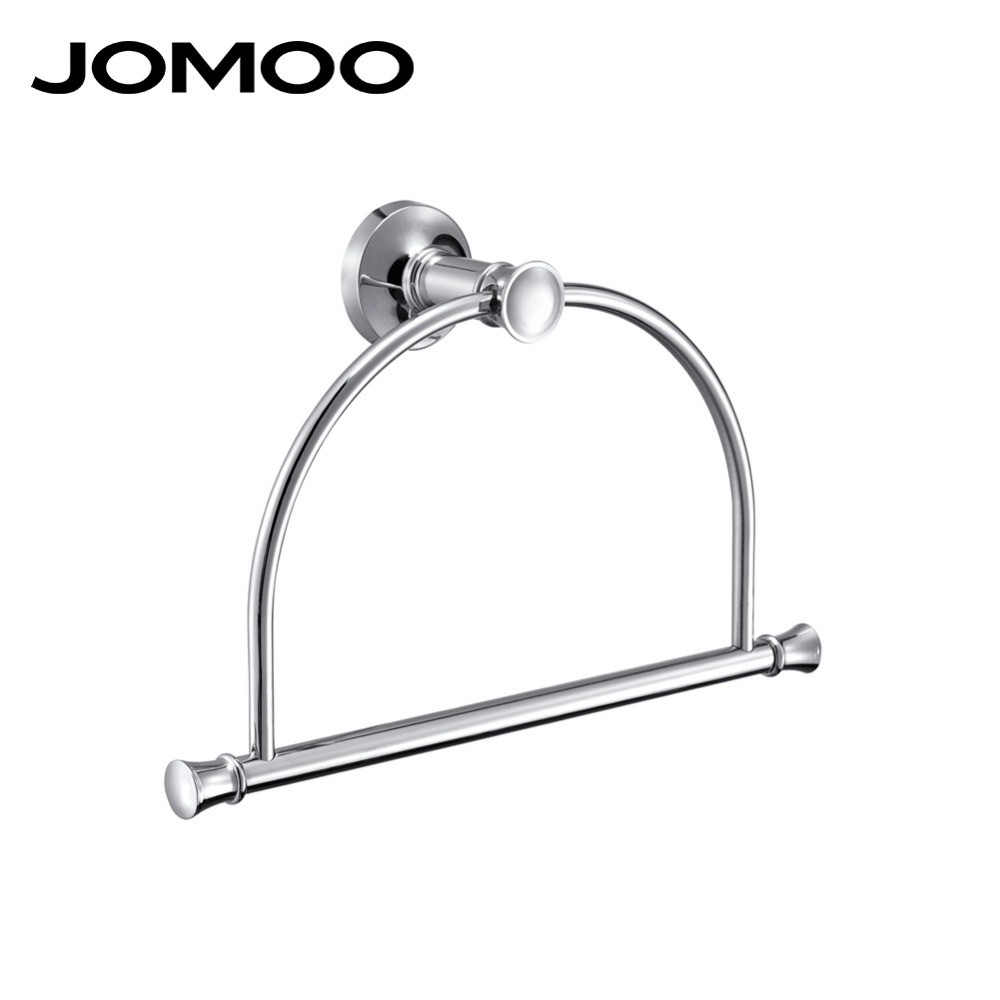 JOMOO Vintage Style Wall Mounted towel rings bathroom accessories brass towel holder towel hanger chrome copper bathroom rings different colors wall mounted clothes hook bathroom towel hanger crystal