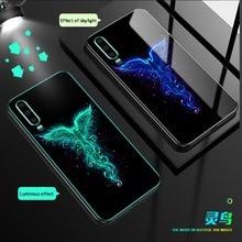 Luminous Glass Case For Huawei P30 Pro mate 20 pro P20 Lite luxury back cover For Honor V20 10 V10 8X 7X V8 V9 9 Lite Phone Case beautiful glass mobile phone funda cover for huawei honor 10 8x 8x max 9 9i 9lite note10 v10 v9 y9 2019 mate 20 lite p30 pro