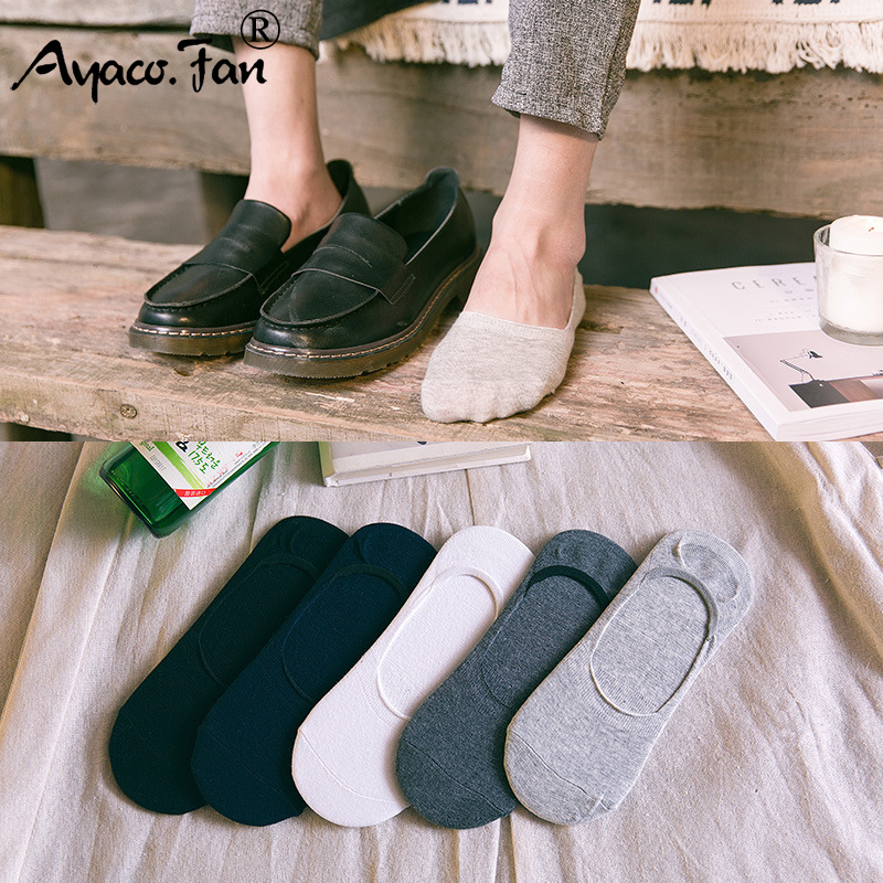 5 Pairs/Lot Invisible Men Socks Cotton Casual Solid Color Breathable Boat Socks Short Men Sock Slippers Summer Male Meias