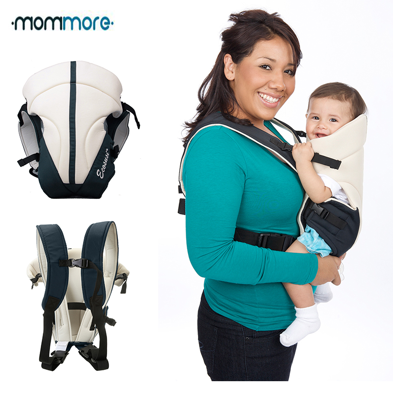 mommore Breathable Baby Carrier Front and Back Cream Updated 3-14Months Infant Baby Sling Backpack Pouch Wrap Baby Kangaroo 2016 hot portable baby carrier re hold infant backpack kangaroo toddler sling mochila portabebe baby suspenders for newborn