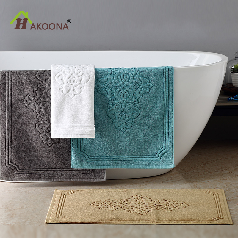 HAKOONA Lxuray Hotel Bathroom Foot <font><b>Towel</b></font> Door Bathmat Machine Washable 50x80cmx400grams 3 pieces Hand <font><b>Towels</b></font> 30x50cm