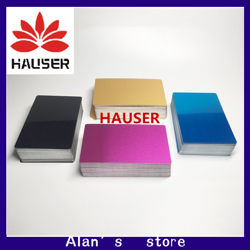 Laser Marking Machine Dimming Metal Business Card / Multi-color Metal Aluminum / Laser Engraving Machine Debugging Material 100
