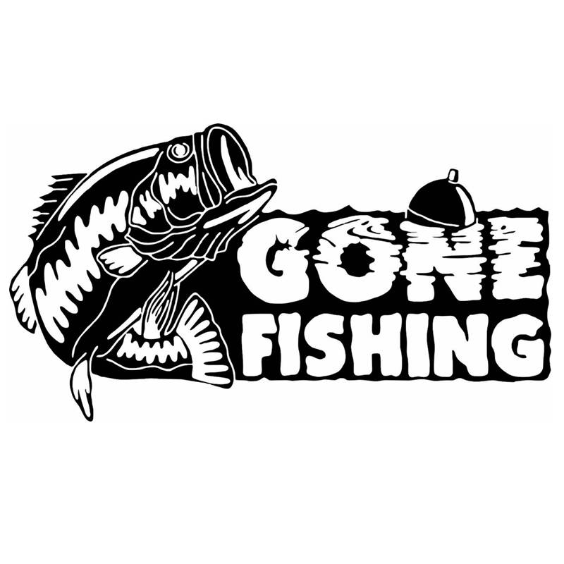Buy fishing sticker name fish bass decal for Fishing vinyl decals