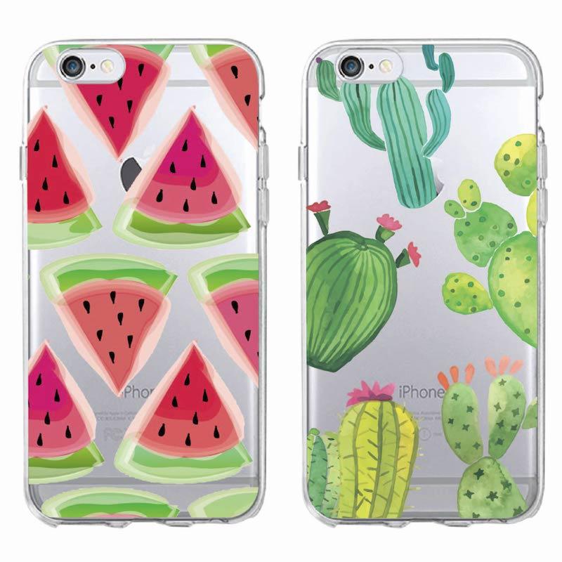 Cute Watercolor Watermelon Cactus Cactaceae Phone Case
