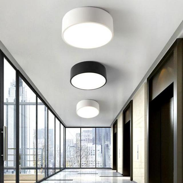 2017 balkon Mini Led Licht Nordischen stil black & white Porch lampe ...